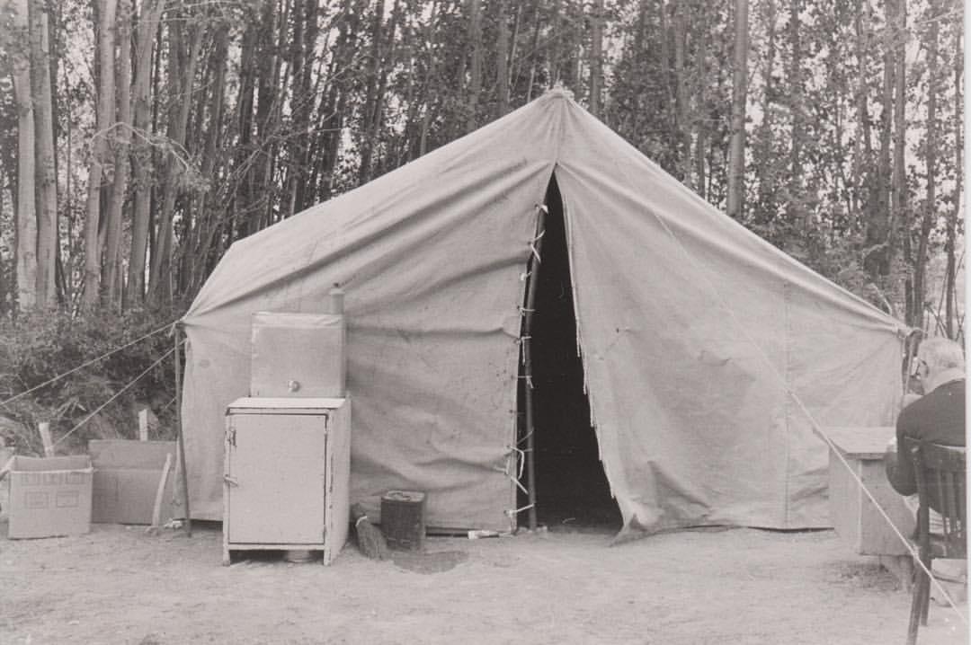 A field hospital that Yekta Uzunoglu established in war of Kurdish People against Iran Islamic Republic , 1980 - Iran