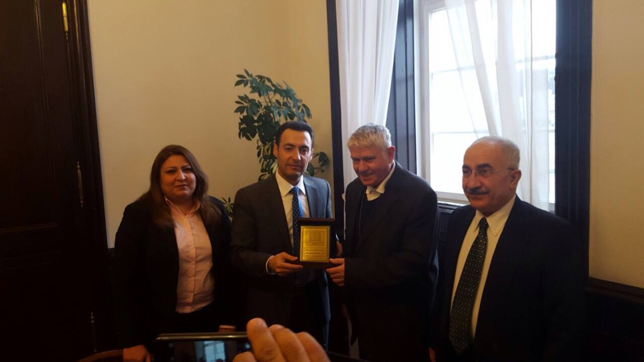 Marcelliana titular bishop and auxilliary bishop Vaclav Maly, hosted the Kurdish parliamentary delegation in Prague