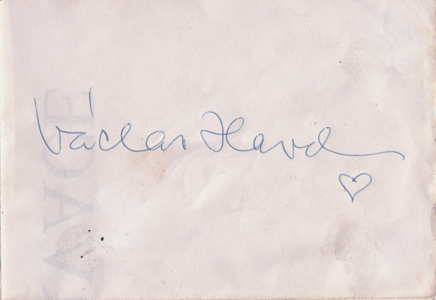 2006 - podpis Václava Havla