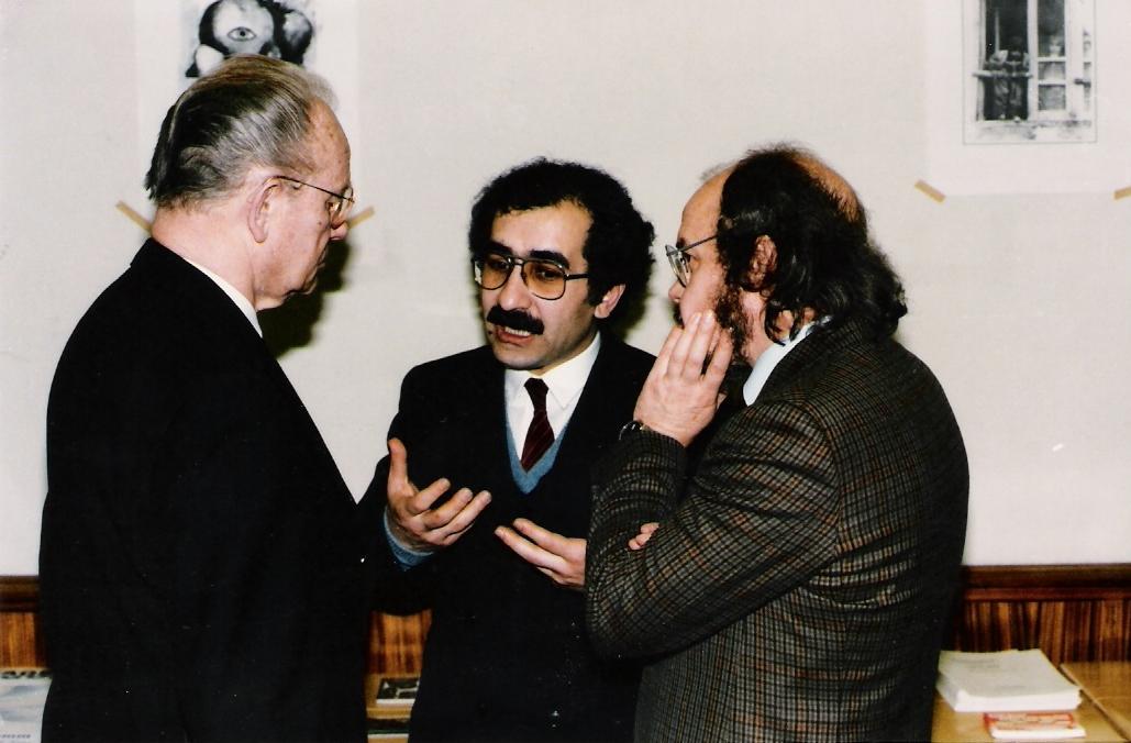 Dr.Yekta mit Hans Oskar Vetter und Klaus Tuehsing -1986