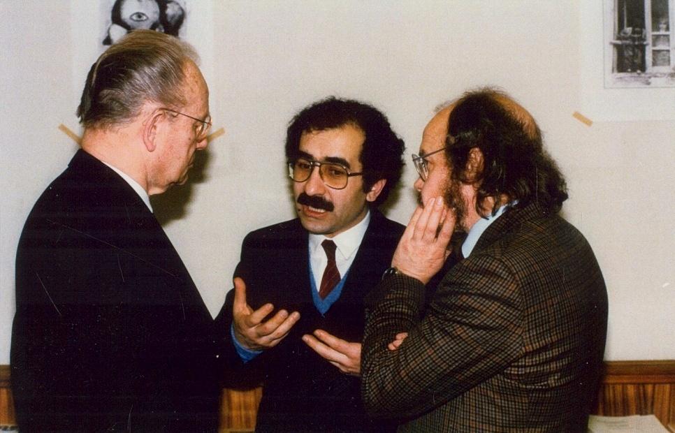 Hans Oskar Vetter, předseda odborové organizace SRN, YU, Klaus Thusing, poslanec Bundestagu za SPD, SRN, 1984