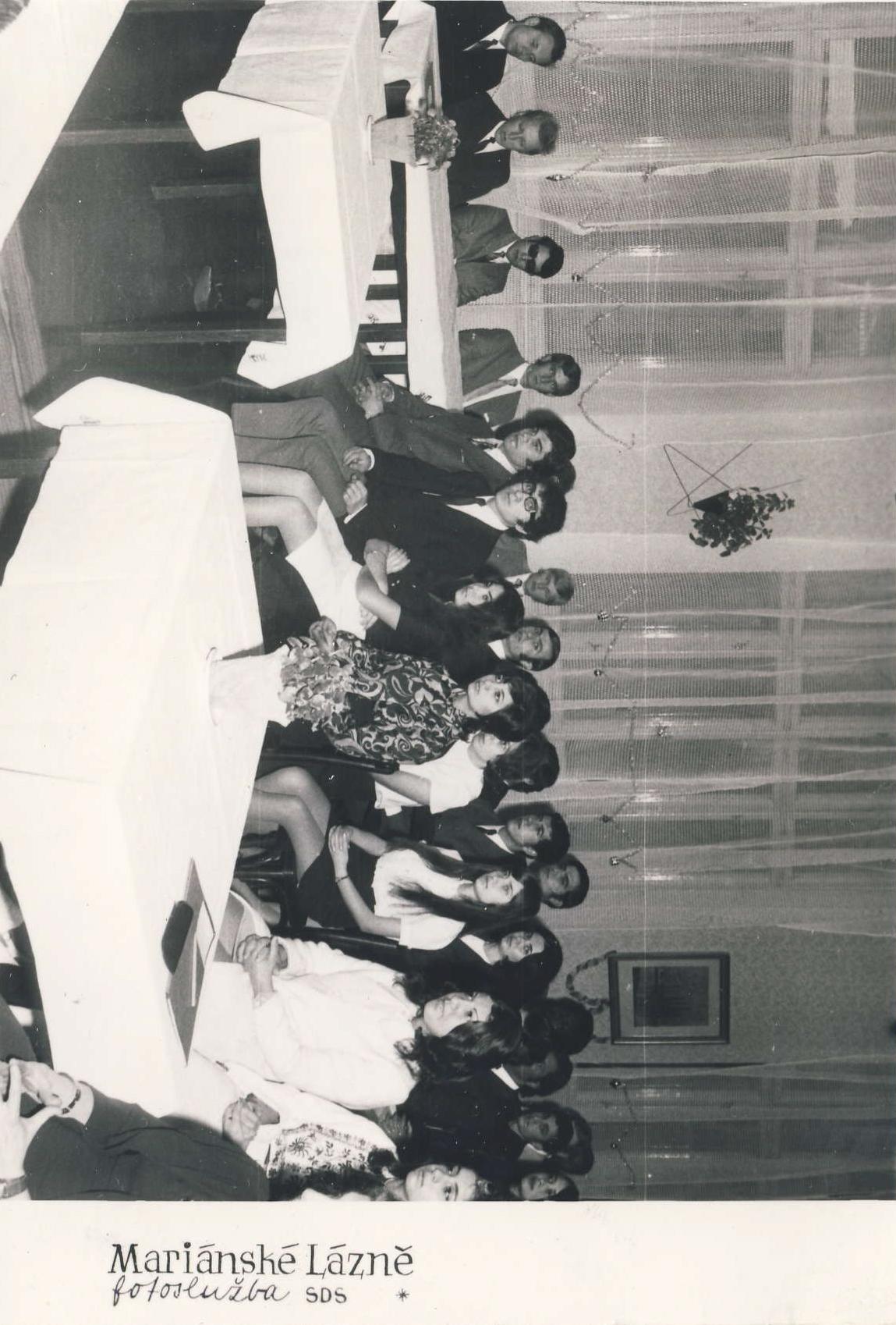 Na jazykové škole v Mariánských Lázních,1972