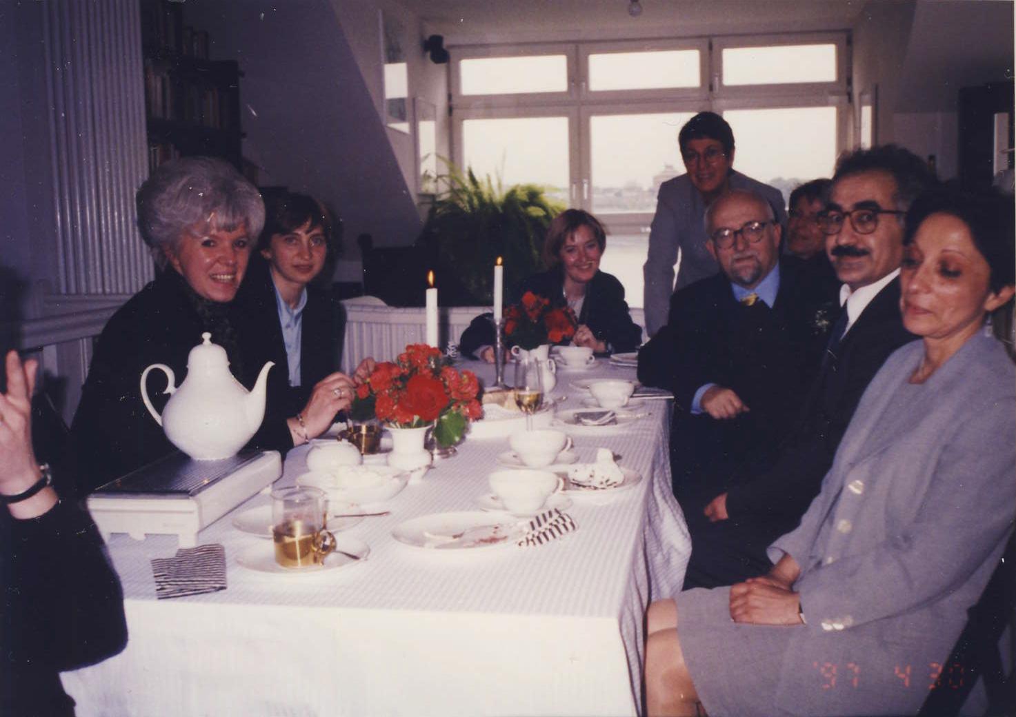 Při svatbě mého přitele Bernharda von Grünberga po mém propouštění z vazby v ČR-1997