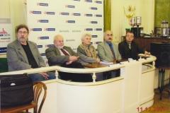 Prezentace mé knihy Výpověď, Petr Žantovský, Libuše Šilhánová a Marek Benda 2007