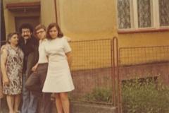 S Annou Mártaskovou,(dnes již)Prof.Dr.Pavlem Mártaskem a jedo sestrou J.Mártaskovou v Uherském Brodě-1974