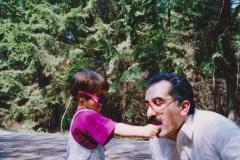 Se svou dcerou Lucia (1992)