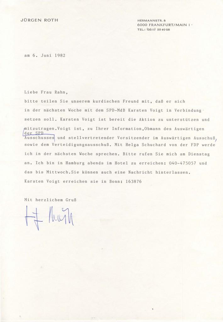 06-06-1982 - Jürgen Roth und Ursula Rahn ( die Frau von Dr yekta)