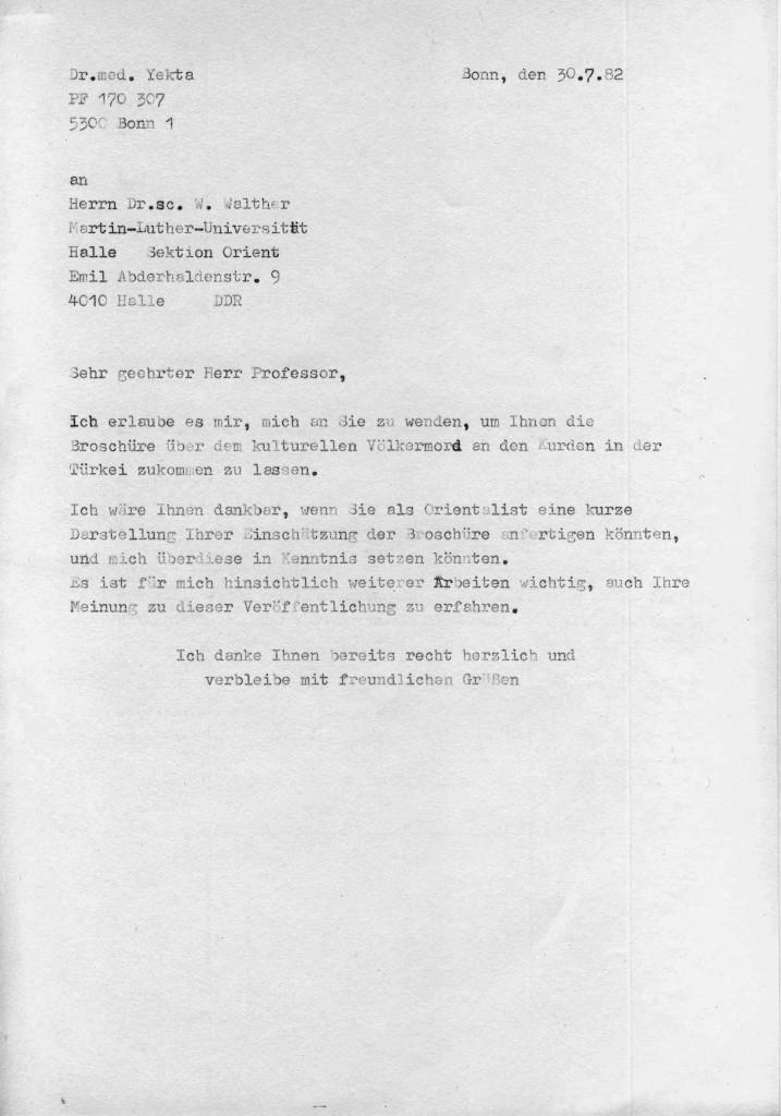 30-07-1982 - Prof Dr W Walther und Dr yekta