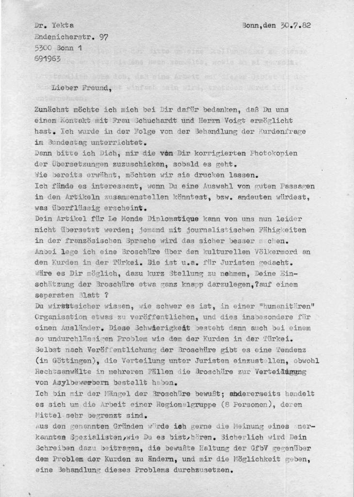 30-07-1982 - SPD-Parteivorsandt und Dr Yekta Uzunoglu-I
