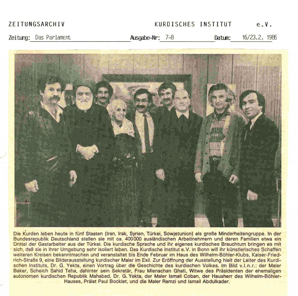 Das Parlament-16- 23-2-1985