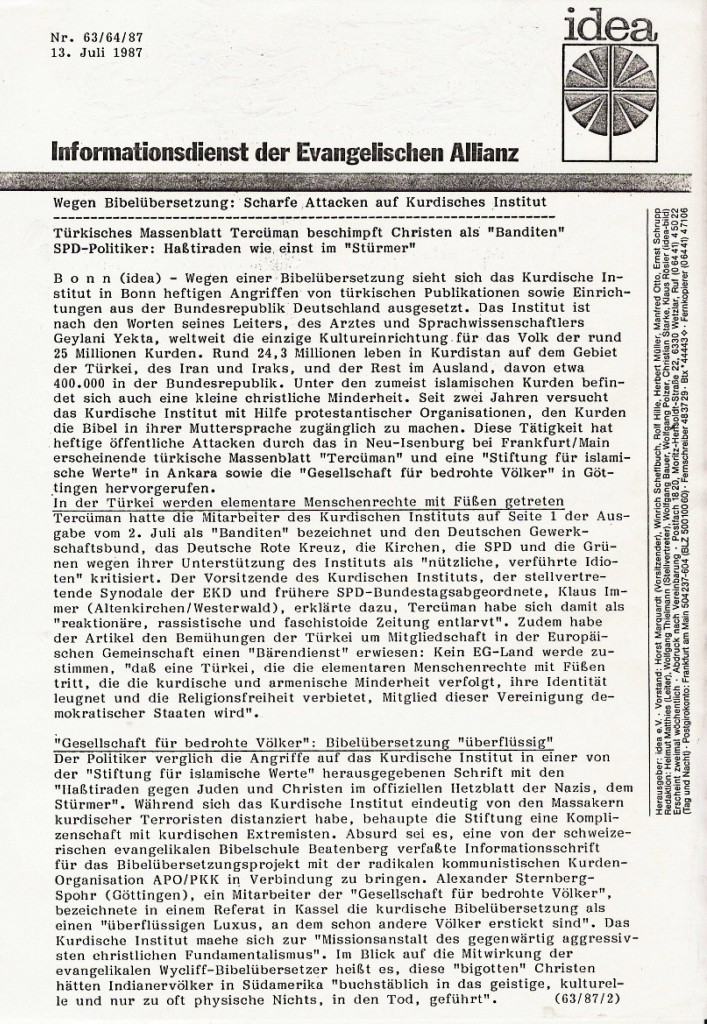 Evangelischer Allianz 1987