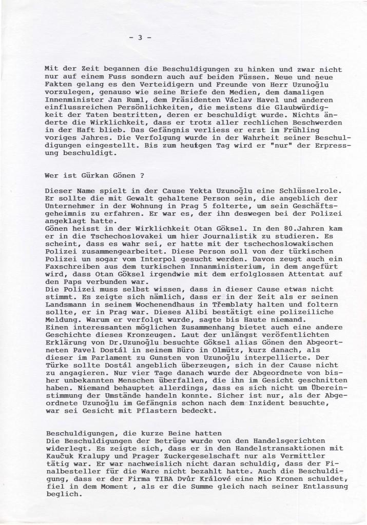 Prager Abendzeitung über den Fall Uzunoglu - III