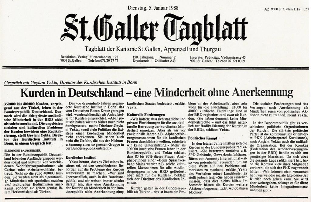 St.Galler Tageblatt - Rojname Swîs