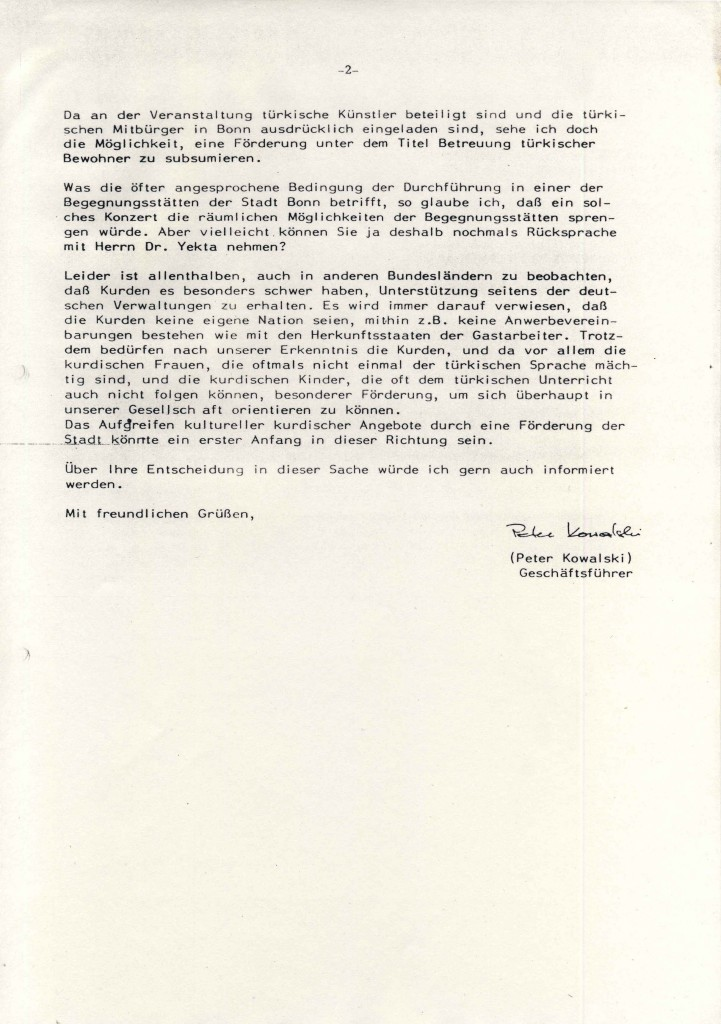 VIA e.v. über das Kurdisches Instıtut Bonn - II
