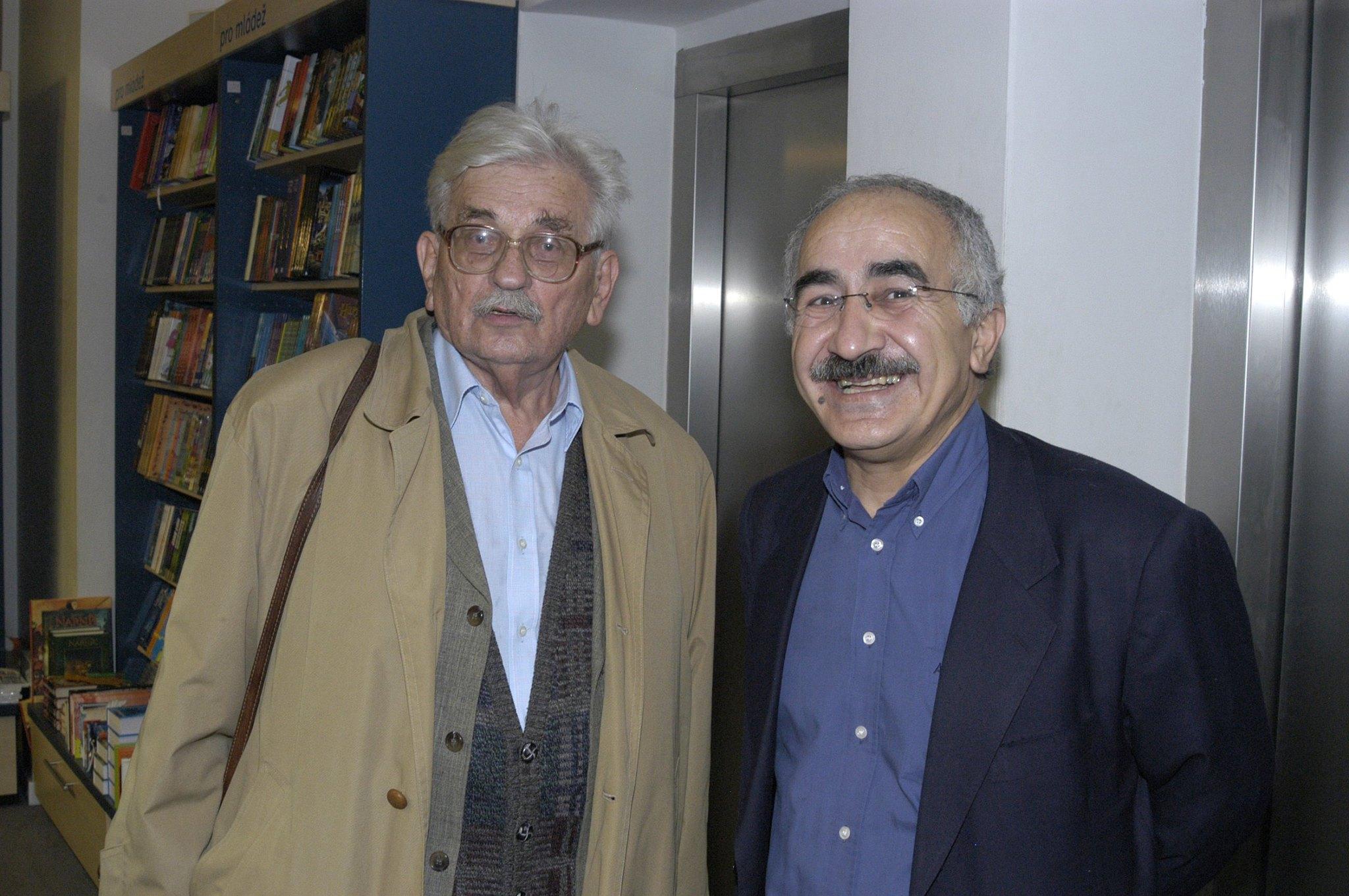 S nebožtíkem Ludvíkem Vaculíkem v roce 2006