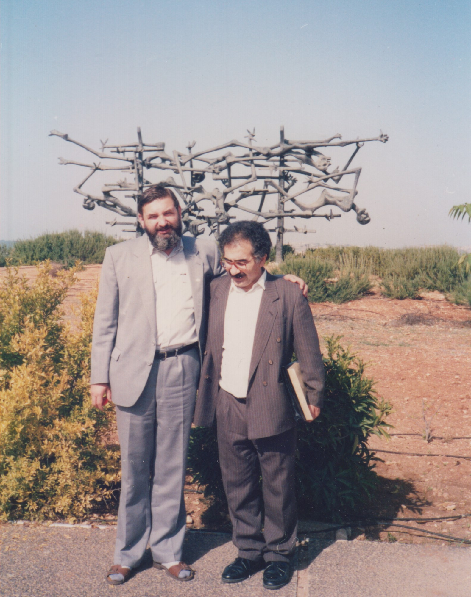 with Mr. Mazel in front of the Holocaust Museum in Jerusalem - 1991