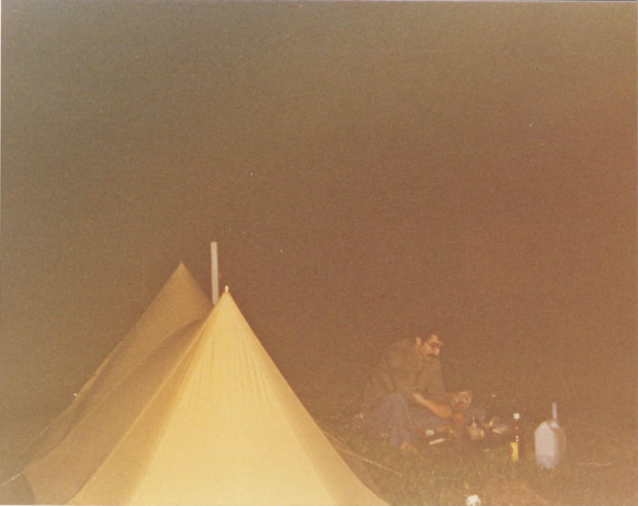 Camping u genevského jezera,1974