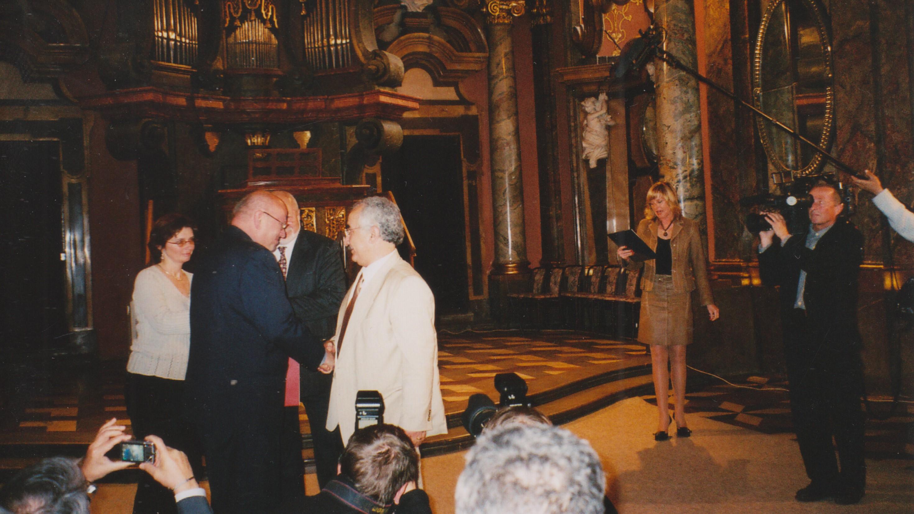 Accepting F.Kriegel prize Prague - Klementinum - 2006