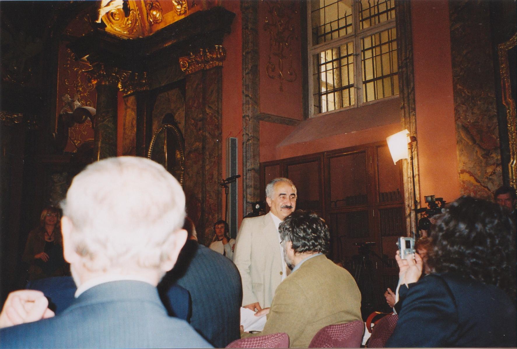 Při převzetí ceny Františka Krígla, 2006