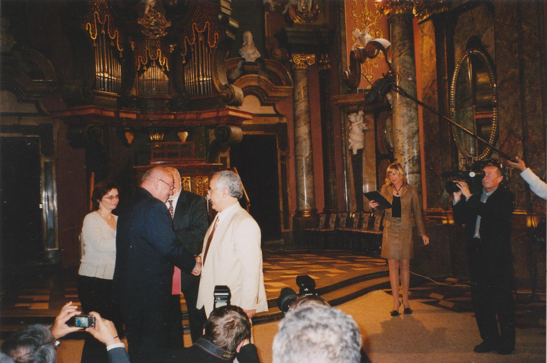 Při převzetí ceny Františka Krígla 2006