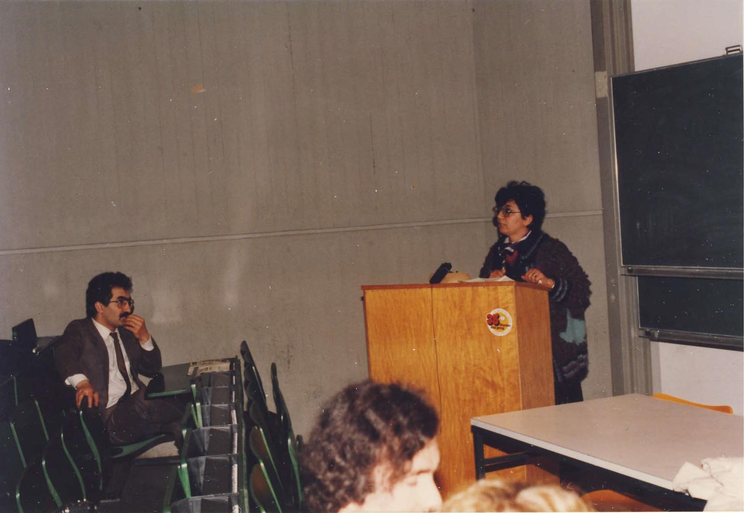 Zozan Bucak na mnou organizovane konferenci o Kurdech,Dortmund,1984