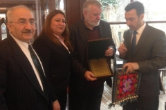 Kurdish parliamentary delegation with Jaromír Štětina