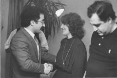 With Ali and Suheyla Ghazi the children of the first and last Kurdish President Muhammad Ghazi . 1986 - Bonn