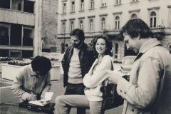 S přáteli;Tomáš Vrba,George Flachbart a jeho žena Cherie,Bratislava ,1979