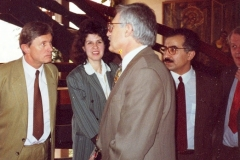 s Václavem Klausem, 1991