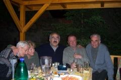 s přáteli z PEN-klubu, zleva Milan Jungmann, Jana Červenková, YU, Václav Daněk