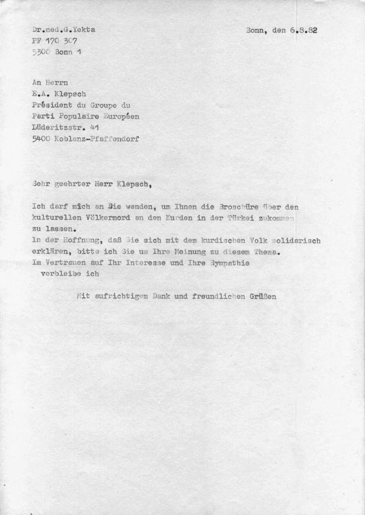 06-08-1982 - Herr E A Klepsch und Dr Yekta