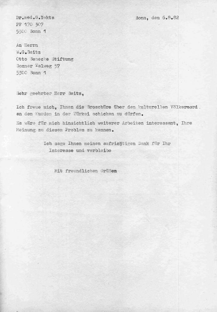 06-08-1982 - Otto Benecke Stiftung und Dr Yekta
