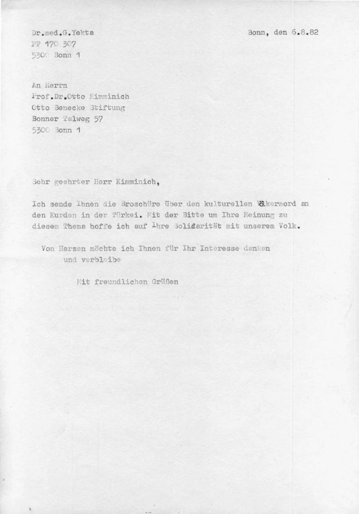 06-08-1982 - Prof Dr Otto Kimminich ( Otto Benecke Stiftung) und Dr Yekta