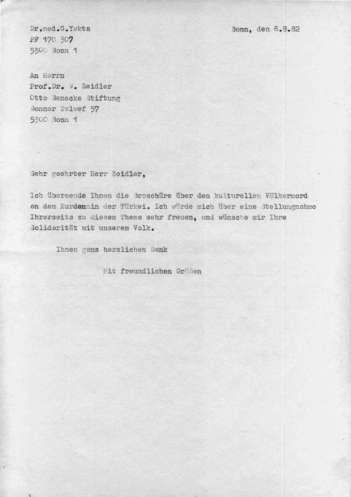 06-08-1982 - Prof W Zeidler ( Otto Benecke Stiftung ) und Dr Yekta