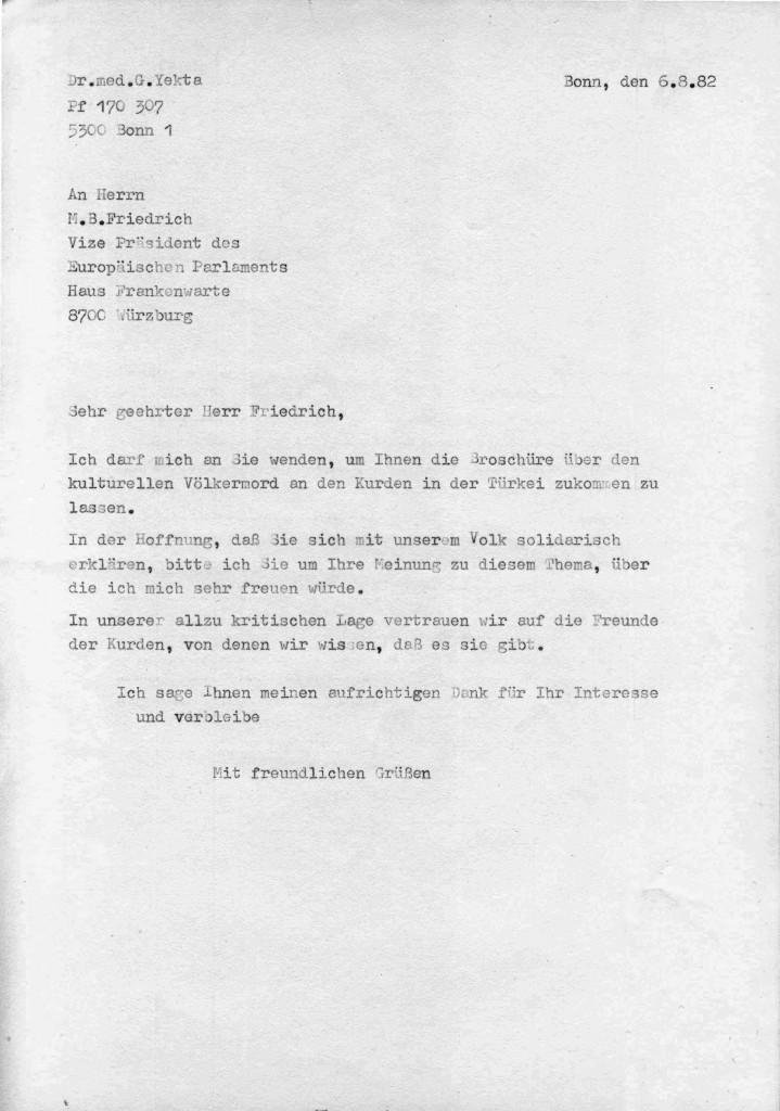 06-08-1982 - Vize Praesident des Europaeischen Parlaments Herr M B Friedrich