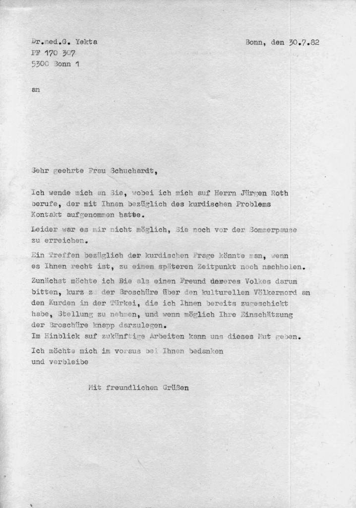 30-07-1982 - Frau Helga Schuchardt und Dr Yekta
