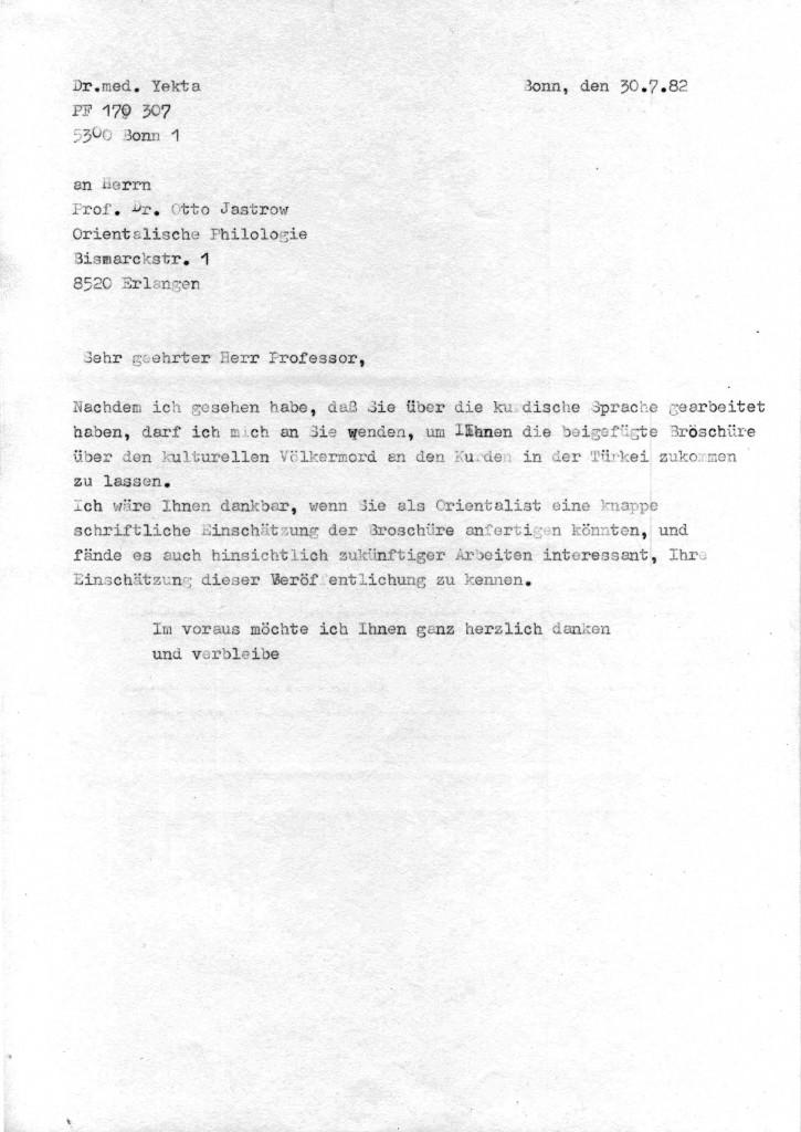 30-07-1982 - Prof Dr Otto Jastrow und Dr Yekta