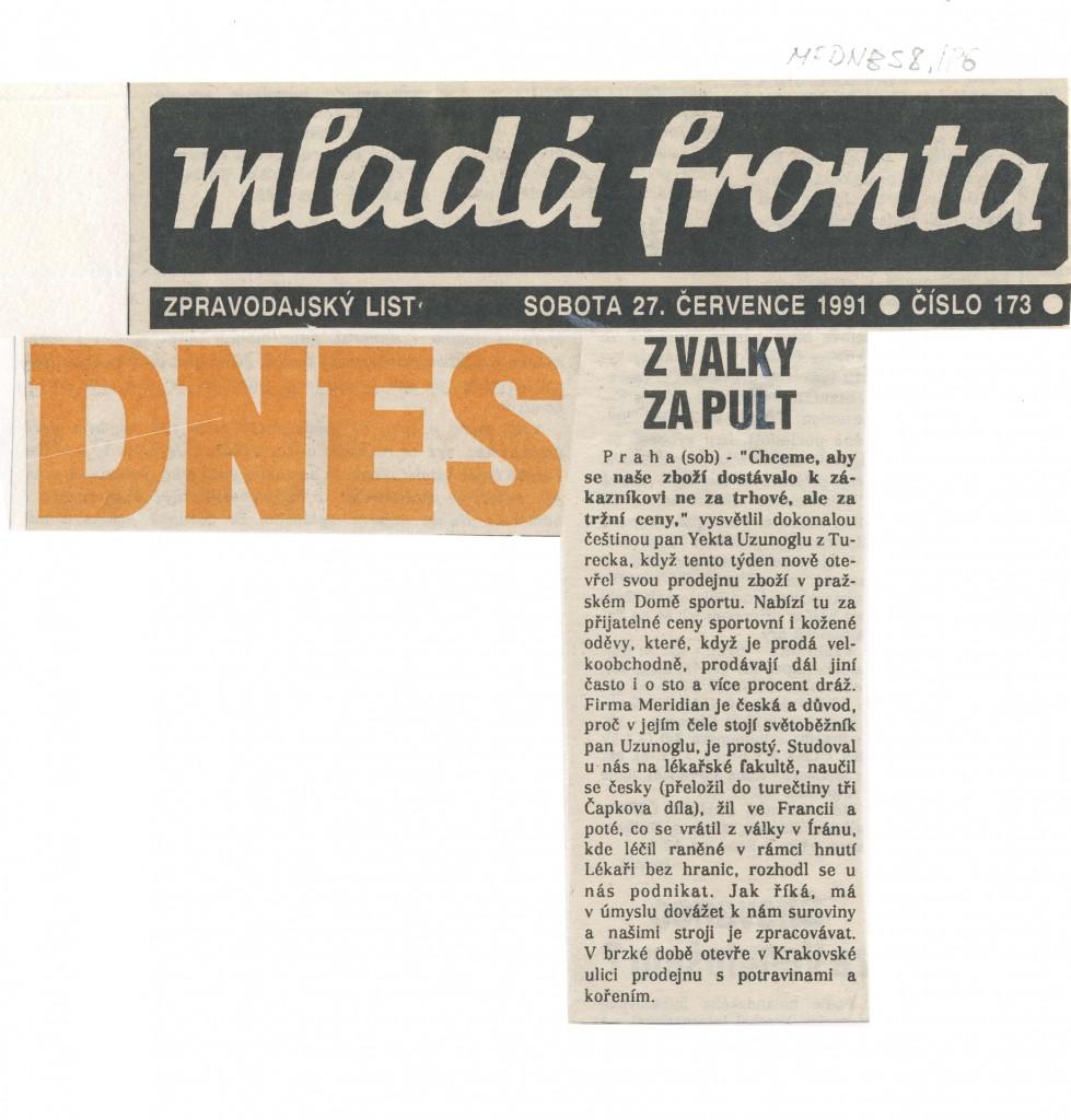 DNES - 27 -07-1991