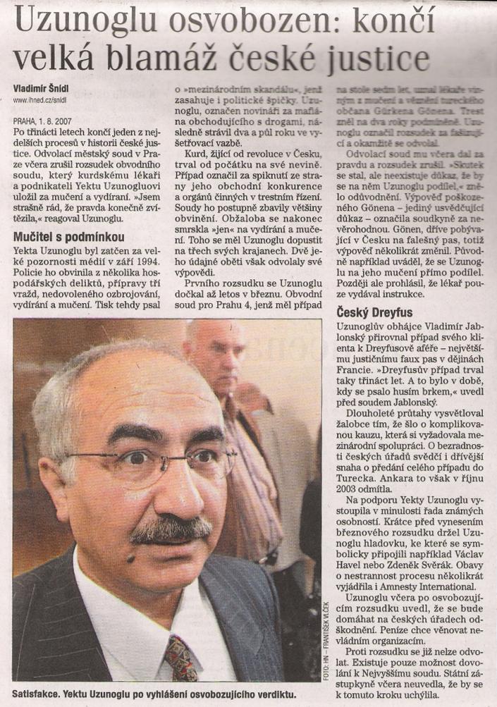 Hospodarske Noviny 1.8.2007