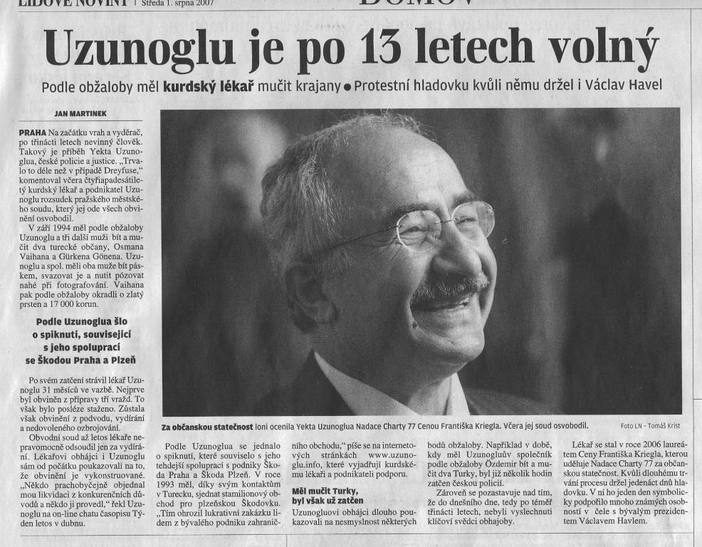 Lidove Noviny 1.8.2007